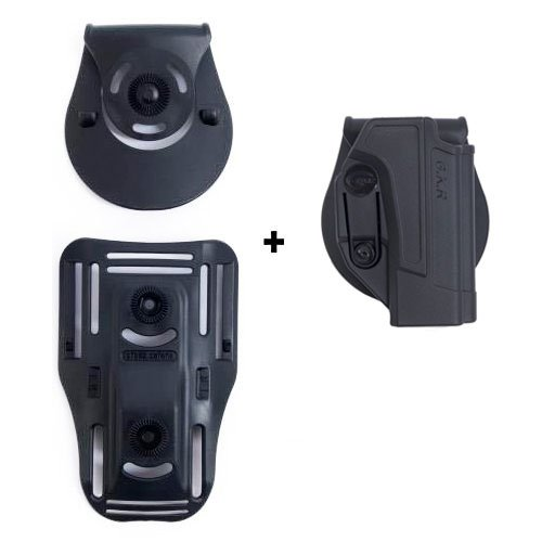 ORPAZ Defense Lowride belt attachment + retention ROTO rotation tactical Holster with tention ajustment for All Smith & Wesson S&W M&P 9mm, .40cal, .22cal & .45cal, M&P M2.0 in 9mm, .40cal & .45cal, SD9, SD40, SD9VE (Wesson-sd40 And Holster Ve Smith)