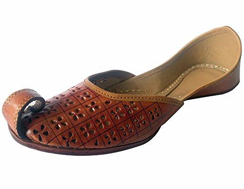 N Step, realizzato a mano con Sandali a infradito da donna, in stile tradizionale Oro (Bronzo)