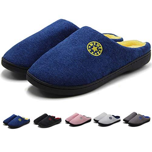 Zapatillas Casa Hombre Mujer Invierno Calido Zapatillas Memory Foam Slipper Ultraligero cómodo y Antideslizante Zapatilla de Estar por casa para Mujer Zapatillas de Interior