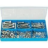 Assortiment de vis en inox/rondelles élastiques/rondelles plates 211 pces