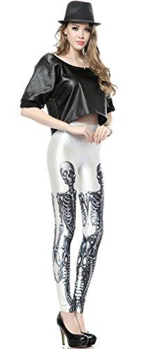 Thenice - Legging - Slim - Femme taille unique Skeleton