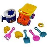JUNGEN 9Pcs Juguetes de playa para niños juego Palas de juguete