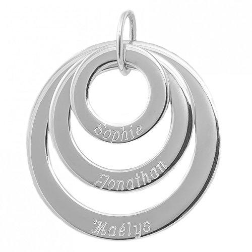 Isady - Damen Anhänger Elise - Anhänger zum Gravieren - Gravur Kostenlos - 925er Sterling Silber - Familienstammbaum - Namenskette - Namen - Muttertag
