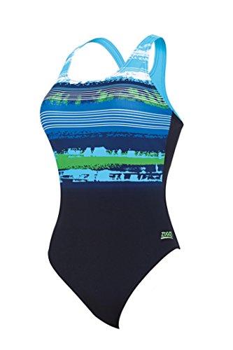 Zoggs Damen Aquabrush Sprintback Multi-Colour/Laguna