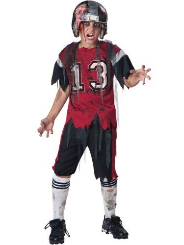 American Football Zombie-Kostüm für Kinder - Deluxe 140/152 (10-12 Jahre)