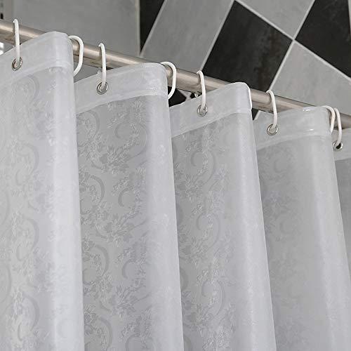 YUl Mildew Resistantwaterproof Curtain Anti-Mold Duschvorhang Dicker Duschvorhänge Schwarze Vorhänge mit vielen Größen Haushalt,240 * 200 cm
