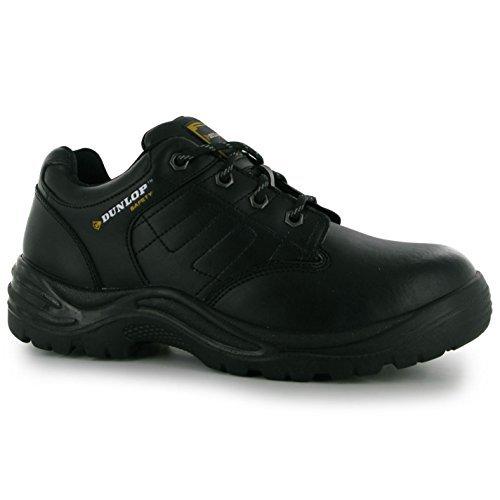 Dunlop Herren Kansas Safety Sicherheitsschuhe Arbeitsschuhe Leder Schutzschuhe Schwarz 8.5 (42.5)