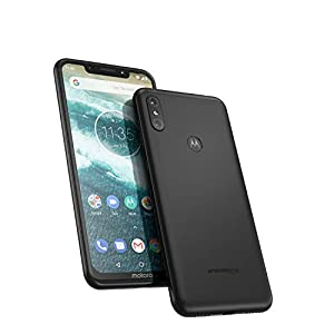 motorola moto one 64GB 5.9-Inch Android One Android 8.1 UK Sim-Free Smartphone with 4GB RAM and 64GB Storage (Dual Sim) – Ceramic Black