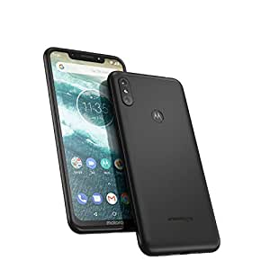 Motorola One 64GB 5.9-Inch Android One Android 8.1 UK Sim-Free Smartphone with 4GB RAM and 64GB Storage (Dual Sim) - Ceramic Black