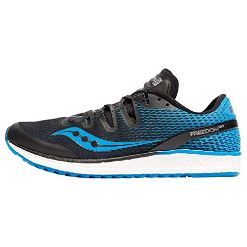 Saucony Men's Freedom ISO Fitness Shoes, Black/Blue 7, 11 10 UK