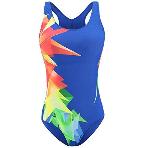 SWIWOTOER Badeanzüge und Badehosen, für Frauen ein Badeanzug weiblichen Sport Wettbewerb Badeanzug für Frauen Badeanzüge blau XL