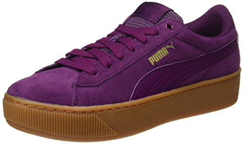 Puma Damen Vikky Platform Sneaker, Violett (Dark Purple-Dark Purple), 42 EU