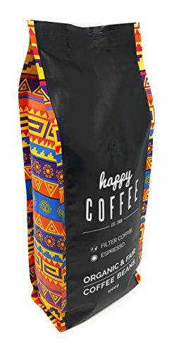 Happy Coffee Kaffeebohnen 1kg – Frisch geröstet – ganze Bohne – Premium Bio-Kaffee, Fair-trade, Arabica, Crema - 2