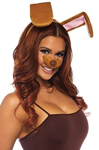 Kit Adult Kostüm - Leg Avenue A285022077 2 teilig Hündchen Set, Damen, Braun, Einheitsgröße: EUR 36-40