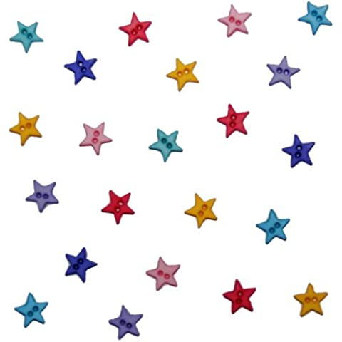 Jesse James 2921 Dress It Up pulsanti colorati, piccole stelle