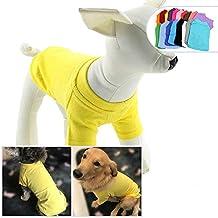 longlongpet Camiseta, camiseta para mascotas, ropa de perro, en blanco, para perros