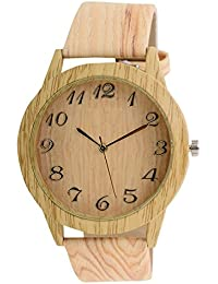 Orayan Wooden Look Designer Branded Analouge Watch For Men And Boys