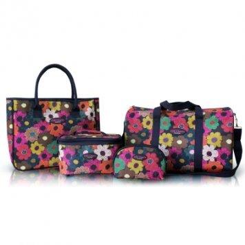 jacki-design-overhead-weekender-travel-tote-cosmetic-bag-4pc-by-jacki-design