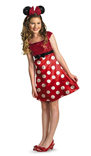 Clubhouse Mouse Minnie Kostüm - Disney Micky Maus Clubhouse rot Minnie Mouse Kind/Tween Kostüm Größe 10-12