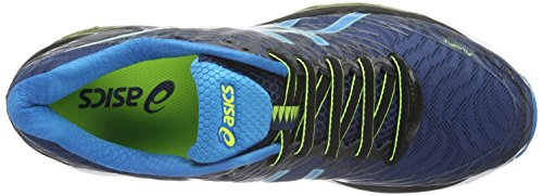 Asics Herren Gel-Nimbus 18 Laufschuhe Mehrfarbig (Poseidon/Blue Jewel/Safety Yellow)