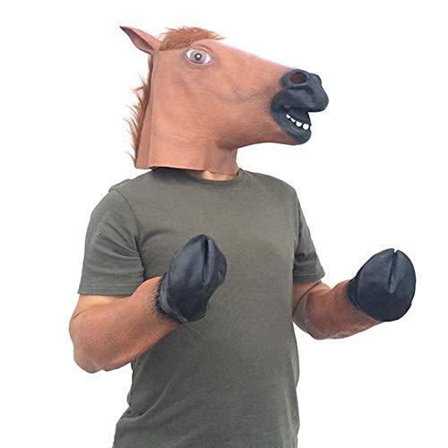 Pepional Pferdemaske Pferdekopf Anzug Pferdekopfmaske Halloween Maske Latex Tiermaske Pferdekopf Pferd Kostüm,Geeignet Für Tanz Erwachsene Und - Pferd Tanz Kostüm