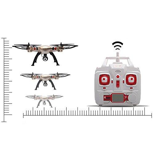 Syma X8HW (aggiornamento del popolare Syma X8W) 2.4GHz 6-Axis Gyro Wifi FPV con la macchina fotografica HD RC Quadcopter Drone (X8HW) - 2