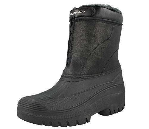 GroundWork LS88 Mens Mucker Stable Yard Waterproof Winter Snow Zip Boots Wellies 1