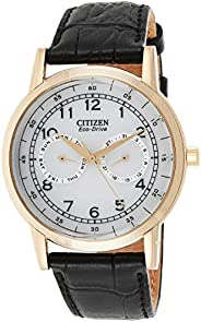 CITIZEN Mens Solar Powered Watch, Analog Display and Leather Strap - AO9003-16A