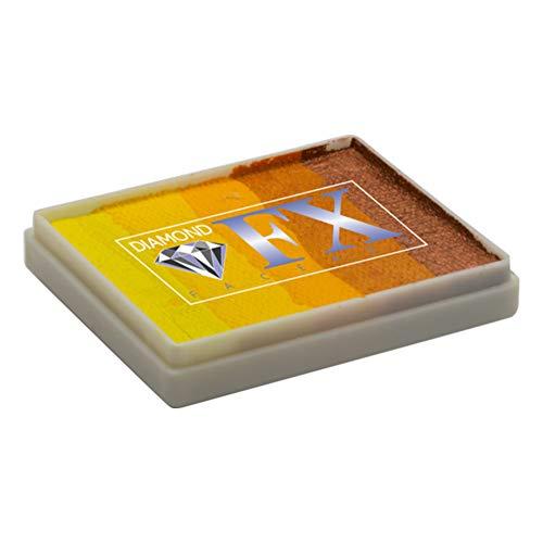 Diamond FX Split Kuchen - Wild Cheetah RS50-78, Gesicht Professionelle Qualität Malerei Regenbogen-Kuchen, Wasser aktivierte Bemaltes Gesicht, 1,76 oz / 50 g (Und Schnelle Einfache Halloween-gesicht-malerei)