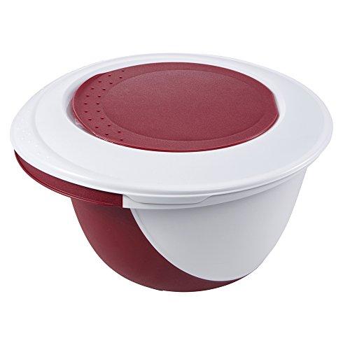 OKT 2053805 Set Bol à Pâtisserie Deluxe en Rouge, Plastique