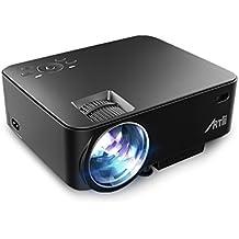 Proyector HD, ARTLII 1500 Lumens 1080p Ruido Bajo Mini Proyector LED conectar Consola de juegos/PS4/TV BOX/iPhone/Ordenador de Mesa/Ordenador Portatil o de Escritorio