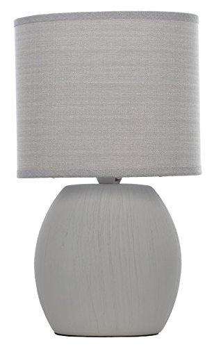 AVENUELAFAYETTE Lampe Pied Ovale - 27 cm - à Poser - de Table- Chevet (Gris)