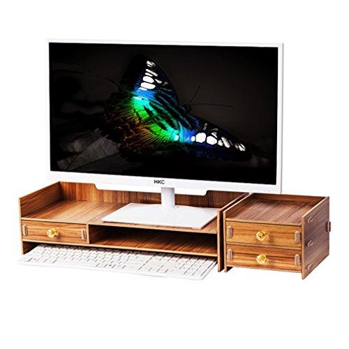 Hölzerner Tischplattenorganisator-Monitor-Stand mit Ablageplätzen für Büroartikel und Speicherraum für Tastatur und Maus für Computer / Monitor / Laptop / Fernsehapparat / Drucker ( Farbe : #2 ) (2 Regal-drucker Stehen)