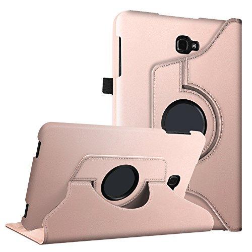 Fintie Samsung Galaxy Tab A 10.1 Hülle - 360° Drehbarer Stand Cover Case Schutzhülle Tasche Etui mit Ständerfunktion Auto Schlaf / Wach Funktion für Samsung Galaxy Tab A 10,1 Zoll T580N / T585N Tablet (2016 Version), Roségold
