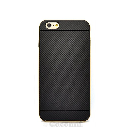 iPhone 6S Plus / 6 Plus Coque, Cocomii Demon Armor NEW [Heavy Duty] Premium Carbon Fiber Slim Fit Shockproof Hard Bumper Shell [Military Defender] Full Body Dual Layer Rugged Cover Case Étui Housse Ap Gold