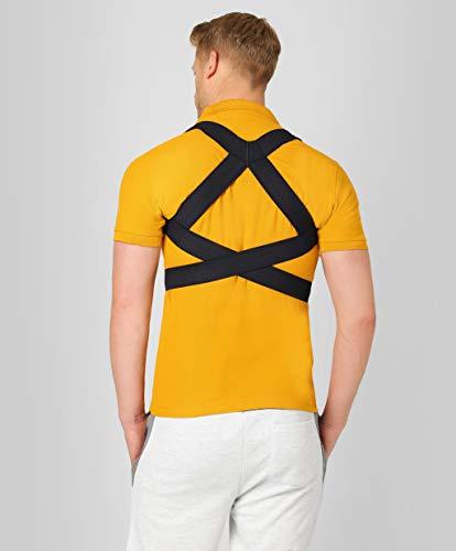 ®BeFit24 Rücken-Geradehalter zur Haltungskorrektur für Damen und Herren mit schmalen Schultern | Rückenstütze | Schultergurt als Rückenstabilisator | Rückengurt | Made in EU - [ Size 3 - Blau ] -
