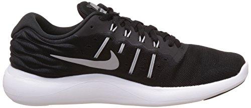 Nike Lunarstelos, Chaussures de Running Entrainement Homme Noir (Black / Metallic Silver-Anthracite-Blanc)