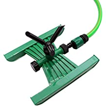 """AquaHose Garden Water Sprinkler 3 Arms Rotating Type for 1/2"""" (12.5mm) Bore Size Hose with 2 Hose Connectors & 1 Through Adapter"""