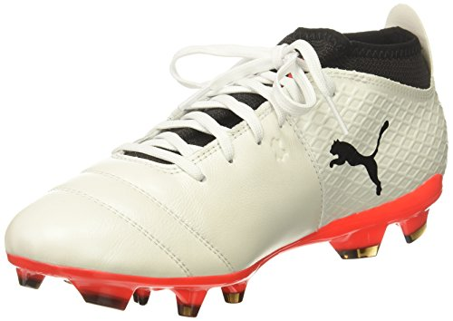 Puma One 17.2 FG, Chaussures de Football Homme Puma White-puma Black-fiery