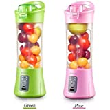 Rose Enterprises Rechargeable Portable Electric 380 ml Juicer Blender Cup (Pink)