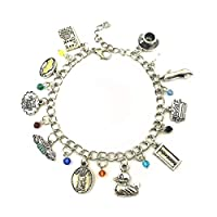 ‏‪Blingsoul Friends Charm Bracelet - TV Show Bracelets Jewelry Merchandise Gifts for Women Adjustable Silver‬‏
