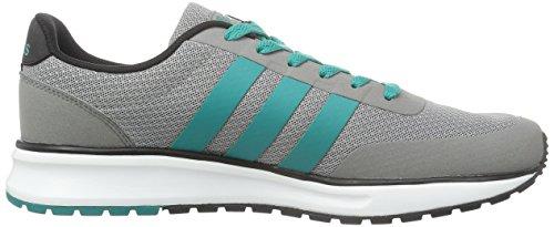 adidas V Racer Tm Ii, Chaussures de Sport Homme, Bleu Gris / Turquoise / Noir (Gris / Eqtver / Negbas)