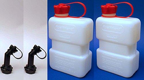 Preisvergleich Produktbild 2x FuelFriend® PLUS CLEAR 1,0 Liter Mini-Benzinkanister + Füllrohr verschließbar