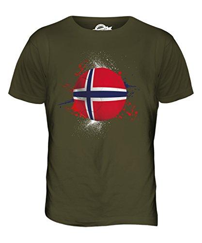 CandyMix Norwegen Fußball Herren T Shirt Khaki Grün