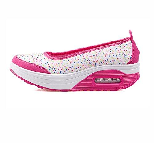 WZG Verbandsmull Schuhe atmungsaktive Mesh-Schuhe Kissen Turnschuhe Schuhe shook schwerem Boden Schuhe gesetzt erhöht Fuß rose red point