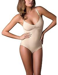 Body Reductor SIN Costuras   Faja MODELANTE DE Mujer   S M L XL XXL   Blanco, Negro, Natural   LENCERÍA Italiana  