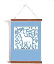 Poster, Wallprint Baby Esel/Poster, Druck, Kinderzimmer, Geschenk, Deko, Tiere, Blau, Esel, Blumen, Baby, Kind