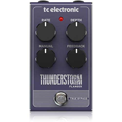 tc electronic Thunderstorm Flanger Vintage Style Pedal with All-Analog Bucket-Brigade Circuit