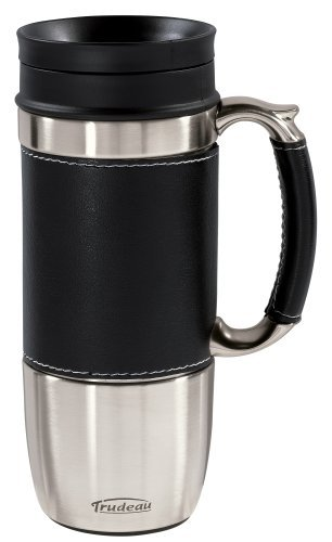 Trudeau Travel Mug (Trudeau Board Room 16-Ounce Travel Mug, Black by Trudeau)