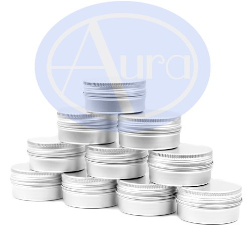 Pack de 25 latas para bálsamo labial - Aluminio - 15 ml